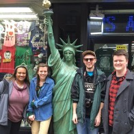 Marywood chapter members with Lady Liberty! L to R: Satara Dickey, Kelsey Van Horn, Alex Weidner, and Patrick Kernan.
