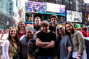 Students from Buena Vista University explore the city while at CMA NYC 2016.