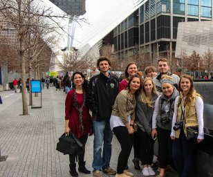 Students from Buena Vista University explore the city while at CMA NYC 2016.