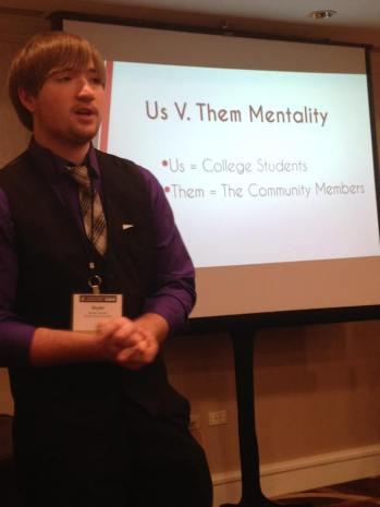 BVU student Skylar Gorsett presented during a recent CMA NYC 16 session.