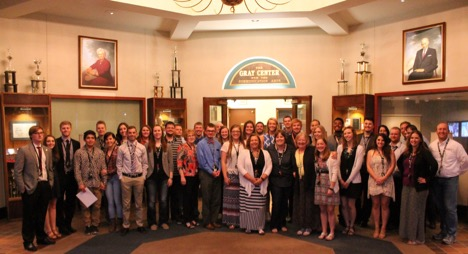 Past and present students came together to honor Brooks on her retirement.