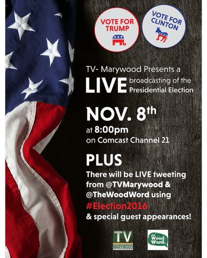 The Marywood Media Group put together a live broadcast to cover election returns.