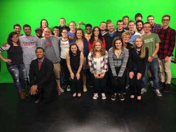 Student journalists at Robert Morris University covered election night, too!