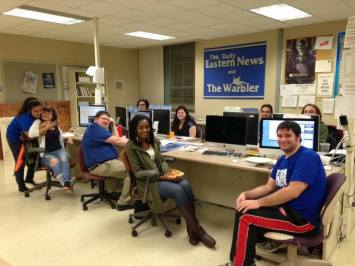 Student journalists at Eastern Illinois University ready to cover Election Day!