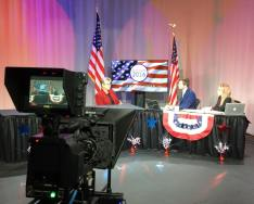 University president Sr. Mary Persico, IHM, Ed.D., was a guest on TV-Marywood's election night broadcast.