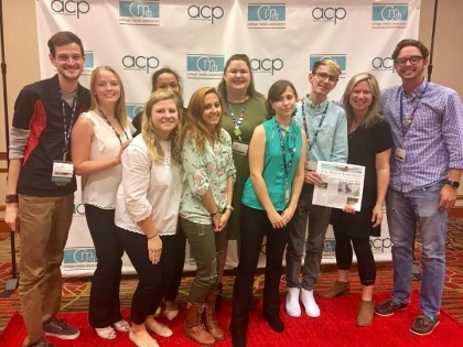 Lyon Payne (second from right) with her j-students at the CMA Dallas Convention in Fall 2017.