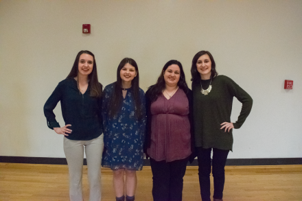 Marywood SCJ Chapter leaders: Anne Zukowski, Brooke Williams, Bethany Wade, and Jessica Bonacci.
